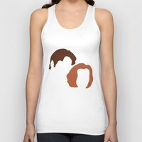 dana scully Tank Tops featuring Mulder and Scully, X-Files by Mars
