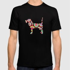 dogs  Mens Fitted Tee MEDIUM Black