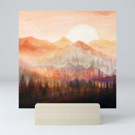 Forest Shrouded in Morning Mist Mini Art Print