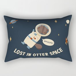 Lost in Otter Space Rectangular Pillow