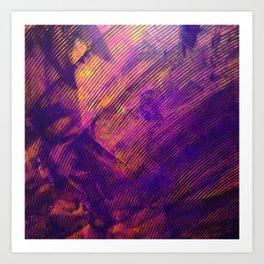 Purple and Orange Stripes Art Print
