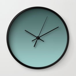 Turquoise Ombre Wall Clock