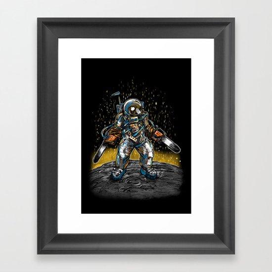 Texas Chainsaw Astronaut Framed Art Print