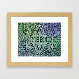 Metatron's Cube Acid Drop Framed Art Print