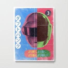 Daft Punk Trading Card 3 Metal Print