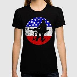 American Flag Keyboard T-shirt
