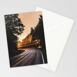 Bright Light Along the Road in Wisconsin Stationery Cards