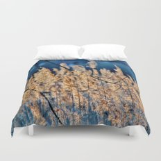 My blue reed dream - photography Duvet Cover