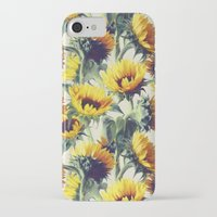 sun iPhone & iPod Cases featuring Sunflowers Forever by micklyn