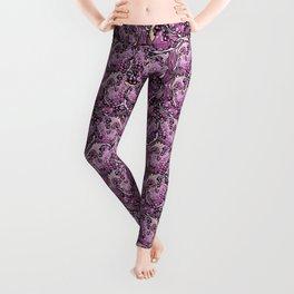 Pomegranate violet fresh seamless pattern! Leggings