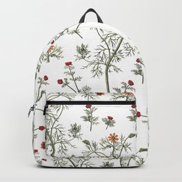 comforters Flowers Pattern Backpack
