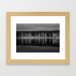 Idyllic summer landscape with crystal clear lake Framed Art Print