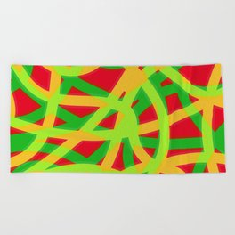 lively lines Beach Towel