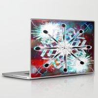 snowflake Laptop & iPad Skins featuring Snowflake by Sarah Maurer