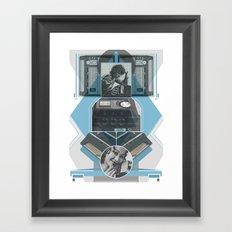 Old School Elec - Phone Framed Art Print