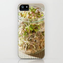 Many cereal sprouts growing iPhone Case