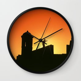 Fortress of San Felipe in Cartagena de Indias Wall Clock