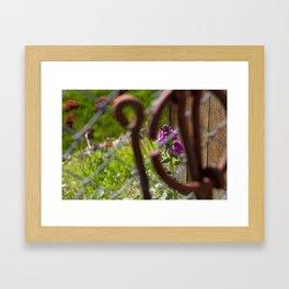 Iron and Purple Flowers Framed Art Print