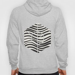 Wavy lines black and white Hoody