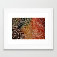 tie dye Framed Art Prints featuring Tie Dye  by sarahlou_0812