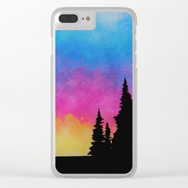 Saturated Sunset Clear iPhone Case