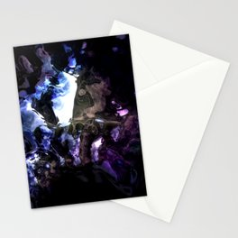 Liquid Crystal Abstraction Stationery Cards