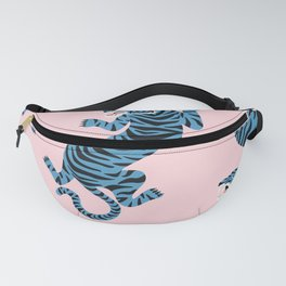 Pastel Pink & Blue Tiger Pattern Fanny Pack