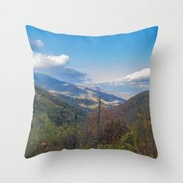 Blue Ridge Peaks Throw Pillow