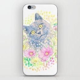 Dreamy Chartreux Cat iPhone Skin