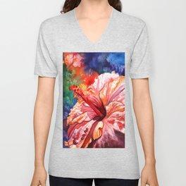 Tropical Hibiscus 2 Unisex V-Neck