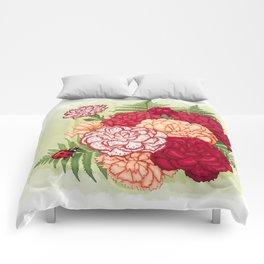 Full bloom | Ladybug carnation Comforters