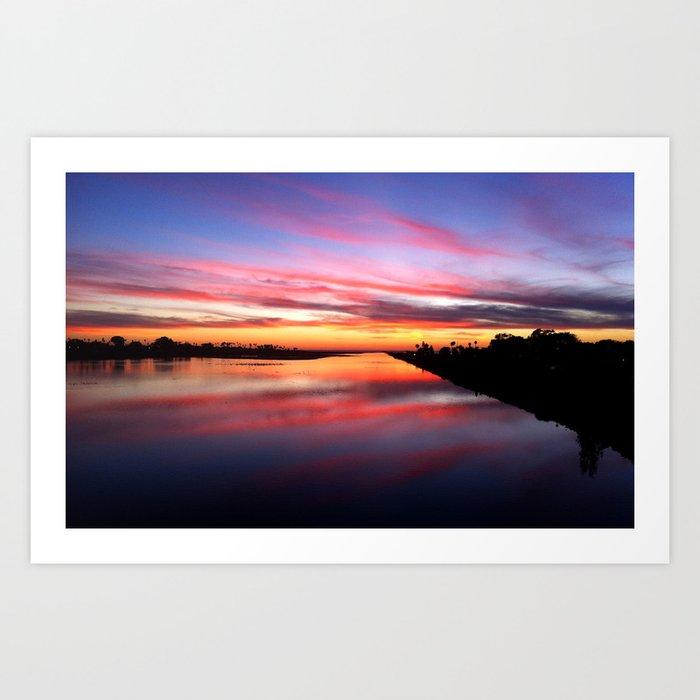 Sunset on the San Diego River Art Print