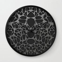 Metal on black, organic abstraction Wall Clock