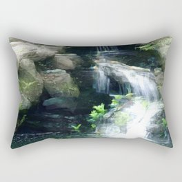 The Flowing Waterfall Rectangular Pillow