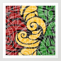 rasta Art Prints featuring Rasta Colors by Lonica Photography & Poly Designs