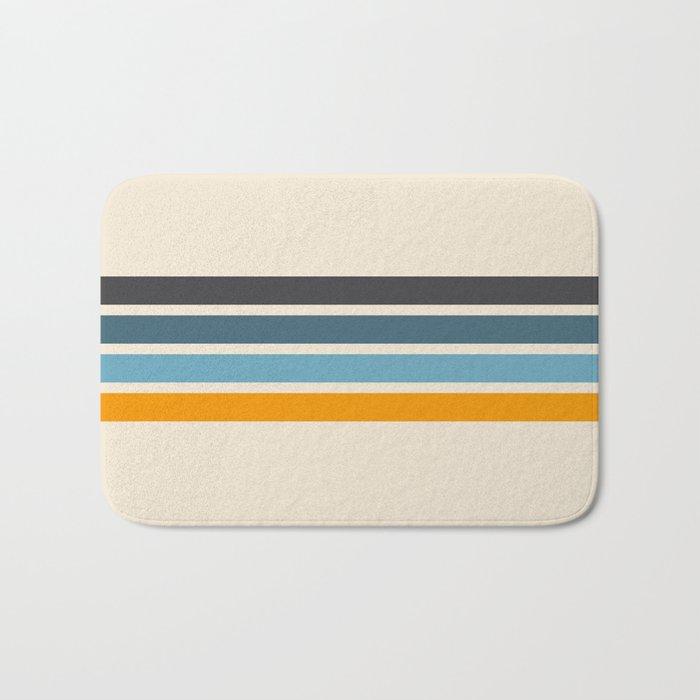 Vintage Retro Stripes Bath Mat