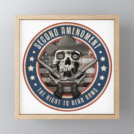 Second Amendment Framed Mini Art Print