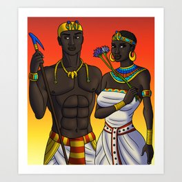 King and Queen of Kush Art Print