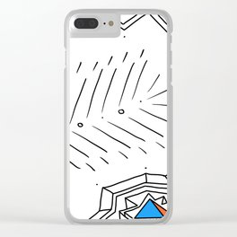 PowerLines 31 Clear iPhone Case