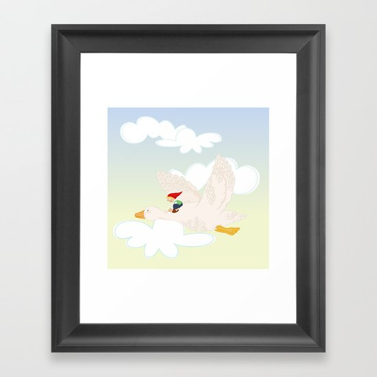 The Wonderful Adventures of Nils  Framed Art Print