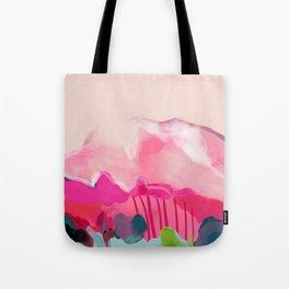pink mountain Tote Bag