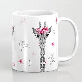 FLOWER GIRL GIRAFFE Coffee Mug