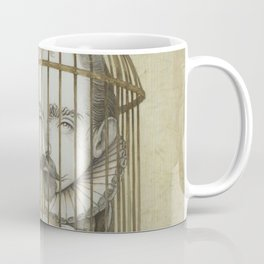 Michel Du Montaigne (1533 - 1592) An Inspirational Philosopher; Prison in the Sky Coffee Mug