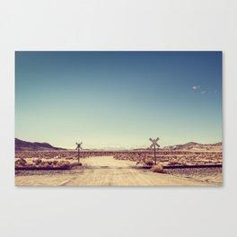 Railroad Crossing California desert Canvas Print