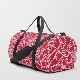 Candy cane flower pattern 2a Duffle Bag