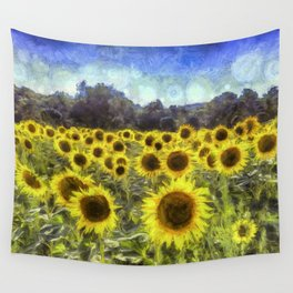 Sunflower Fields Of Dreams Art Wall Tapestry