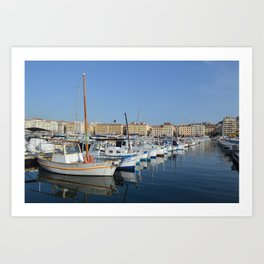 Boats of Marseille  Art Print