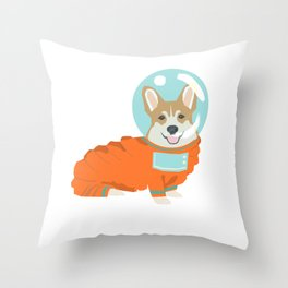 Spacesuit Corgi - cute corgi in space, cosmic corgi Throw Pillow