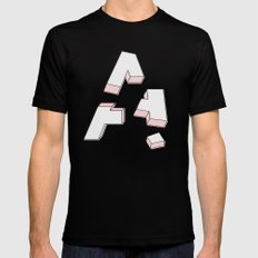 Deconstructed A Black MEDIUM Mens Fitted Tee