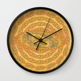 Hypnotic Eyes of the Sun Wall Clock
